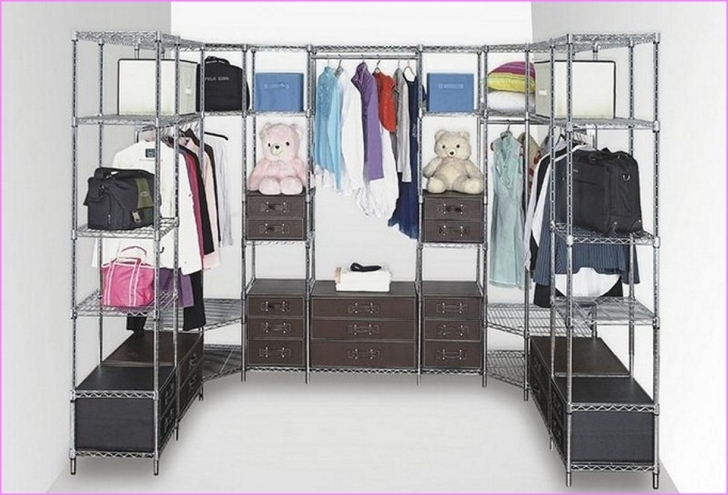 Wire Shelving Units for Closets With Regard To Metal Design Ideas Pic