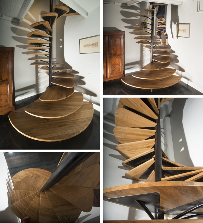 Wooden Spiral Staircase Inside Classy Unique Shape Wooden Metal Spiral Staircase Images680