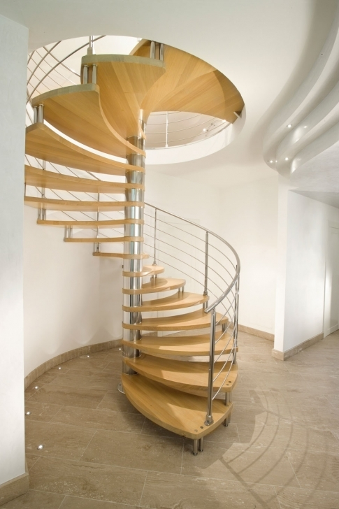Wooden Spiral Staircase Regarding Attractive Wood Spiral Staircase Interior Design Pics188