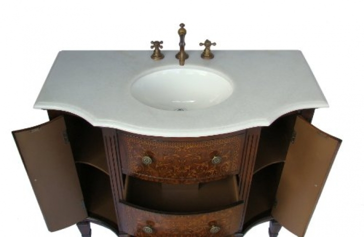 42 Inch Bathroom Vanity Cabinet Adelina Vintage French 254