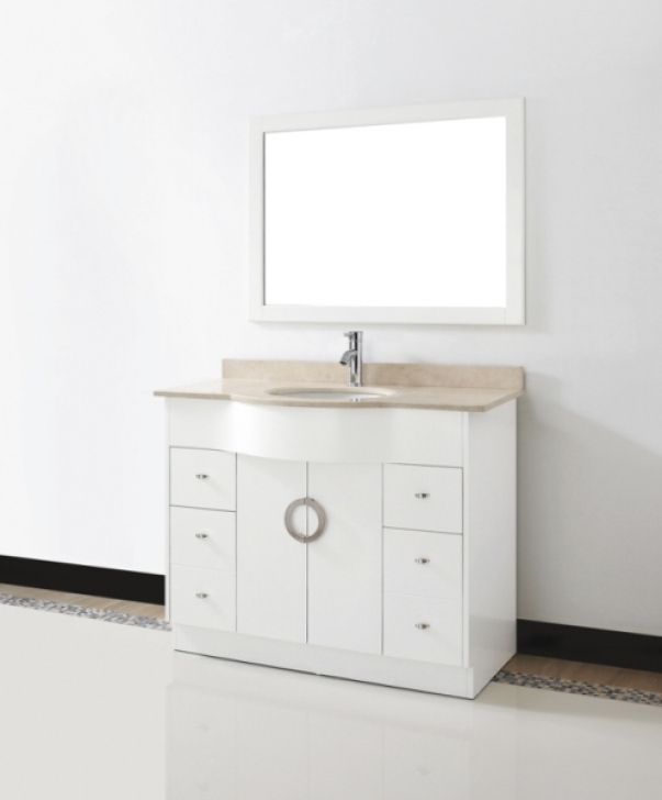 42 Inch Bathroom Vanity Cabinet Beautiful White 487