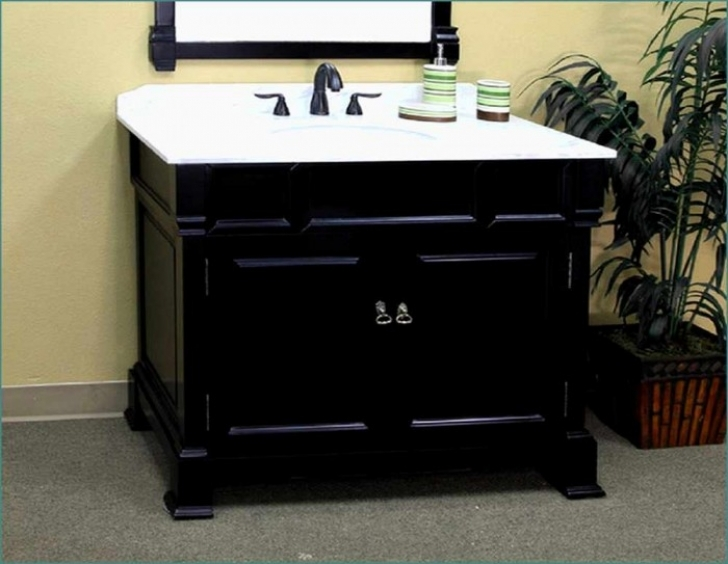 42 Inch Bathroom Vanity Cabinet Only Black 593
