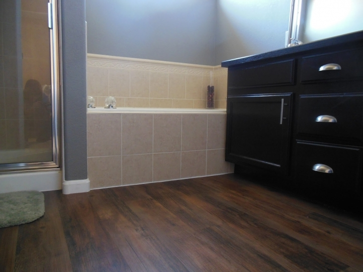 Bathroom Flooring Ideas Vinyl|Vinyl Bathroom Flooring Ideas} With Delightful Espresso Vanities And Doors Storage On Barn Accent Tile 905