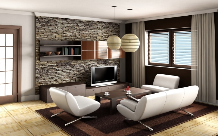 Beautiful Contemporary Living Room Furniture Ideas With Inspiring Apartment Ideas Modern White Sofa And Cozy Brown Rug Pictures 483