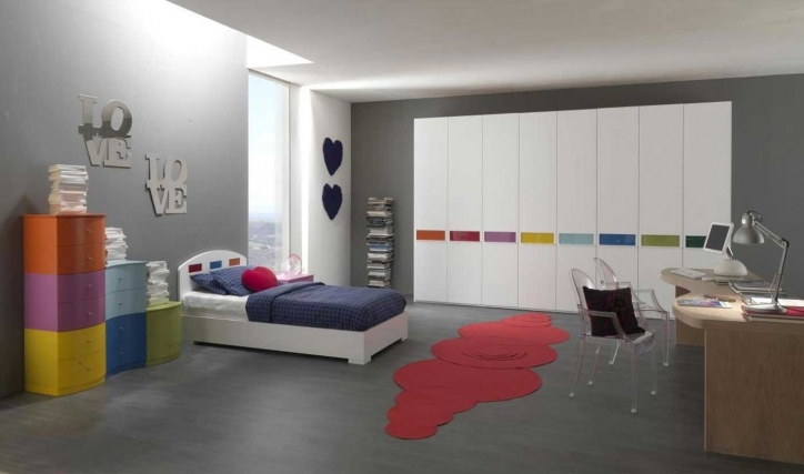 Bedroom Cupboard Designs And Colours Inside Stylish Paint Ideas For Guys Bedroom With Modern Gray Wall Paint Color Pic 821
