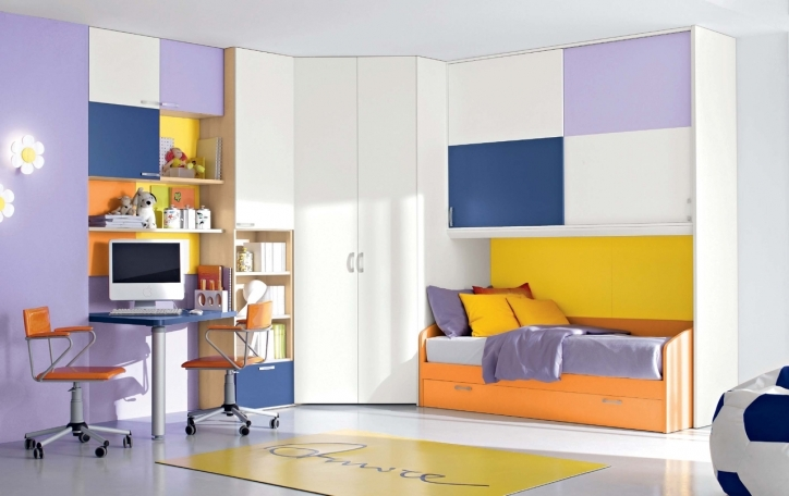 Bedroom Cupboard Designs And Colours Within Excellent Drawer Design With Orange Colour Two Cart Chair Design And Wooden Bookscase Pictures 257