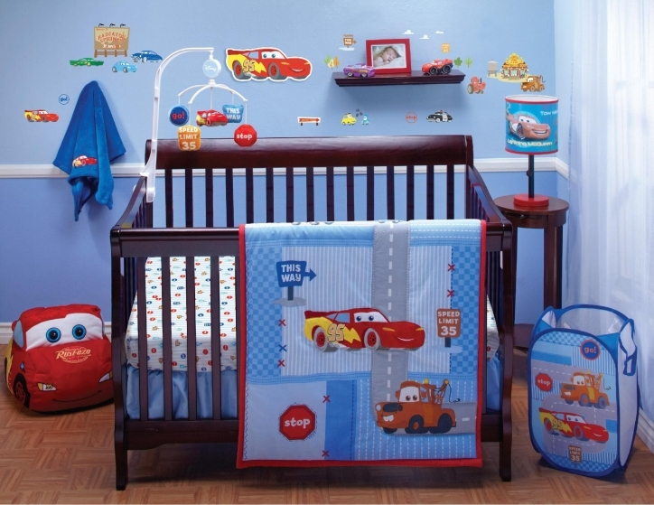 Disney Baby Crib Bedding Sets Cars Little Racer With Hanging Toys Picture