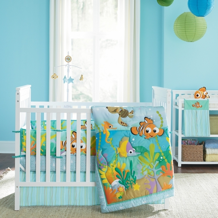 Disney Baby Crib Bedding Sets Nemo Roomshot With Bumper Photos