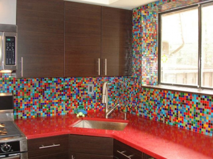 Fantastic Mosaic Kitchen Backsplash Colorful Kitchen Backsplashes Calfinder Remodeling 786
