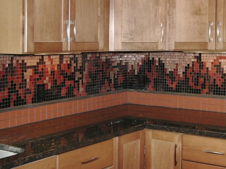 Fascinating Mosaic Kitchen Backsplash Smith Mountain Lake Mosaics 104