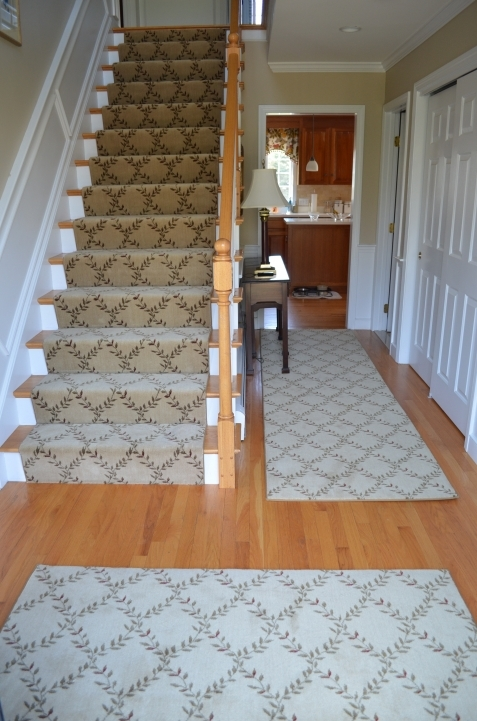 Hardwood Stairs Carpet Runner For Carpeted Stairs  Image 405