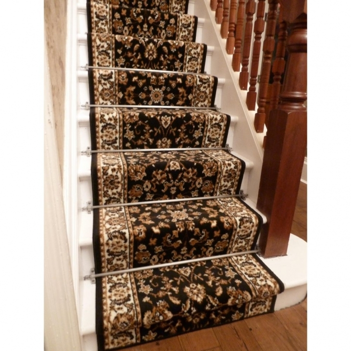 Hardwood Stairs Carpet Runner Persian Black Traditional Stairs Photos 265