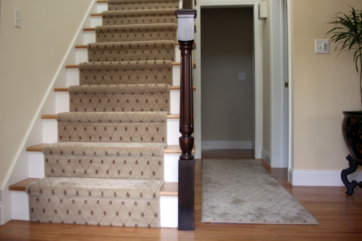 Hardwood Stairs Carpet Runner Stairway Photo 479