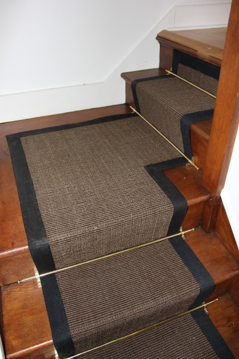 Hardwood Stairs Carpet Runner Wooden Stairs With Dark Carpet And White Wall Photos 208