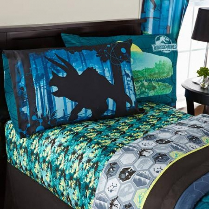 Jurassic World Bedding Universal's Biggest Growl Bedding Sheet Set Picture 944