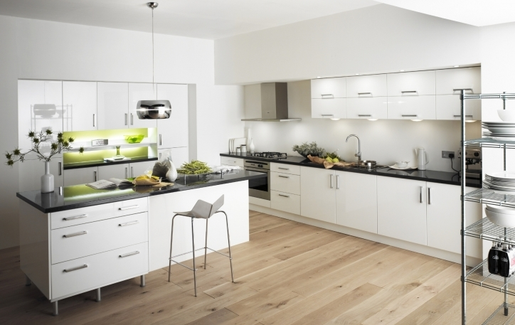 Kitchen Flooring Ideas Within Marvelous Modern White Floors And White Cabinets Decorating Ideas Pics748