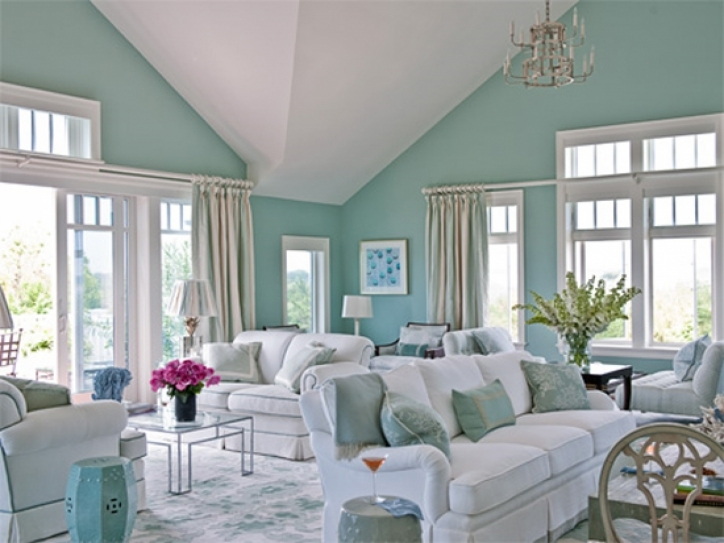Living Room Paint Colors Inside Excellent Beach House Living Room Colors 008
