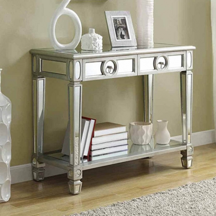 Mirrored Console Table Regarding Gorgeous Mirrored Hallway Console Table 250