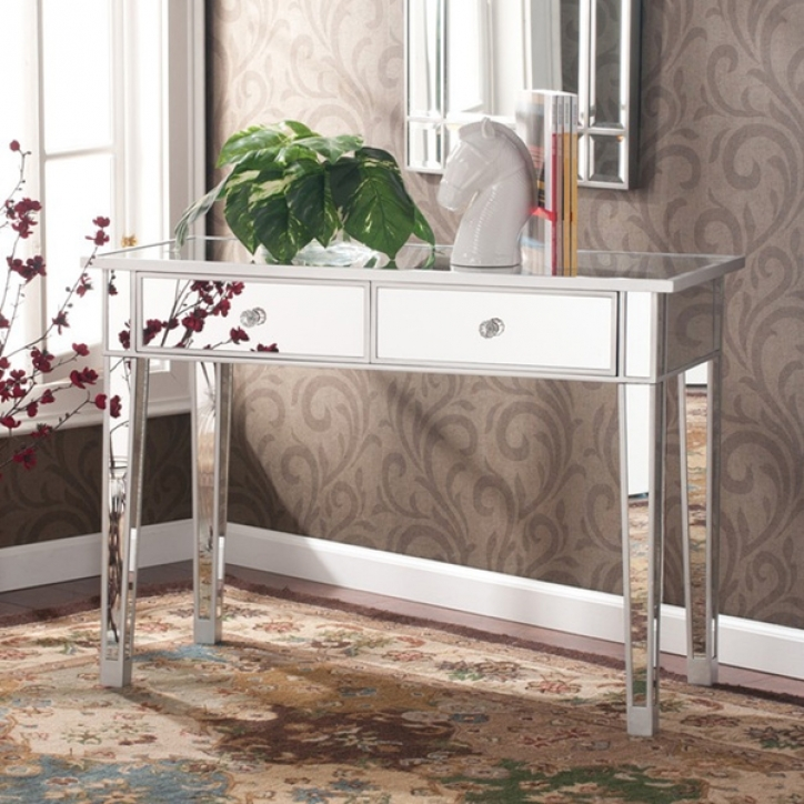 Mirrored Console Table With Attractive Mirror Vanity Desk 649