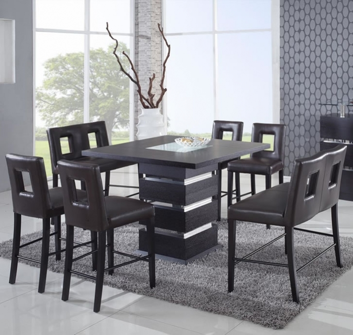 Modern Counter Height Dining Sets Inside Inspiring Black Design Global Furniture Usa Picture
