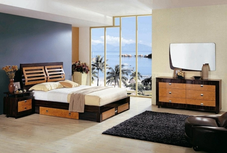 Paint Colors For Bedrooms With Light Wood Furniture Within Amazing Light Oak Wood Storage Bed Frame And Dark Brown Bed Valance Photos