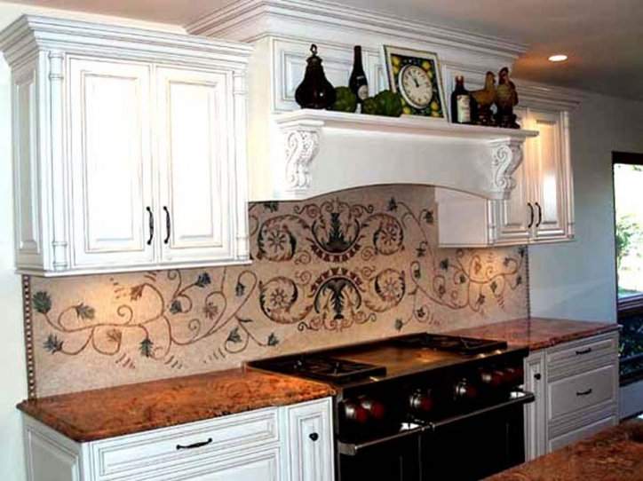Stylish Mosaic Kitchen Backsplash Tile Mural Arts 103