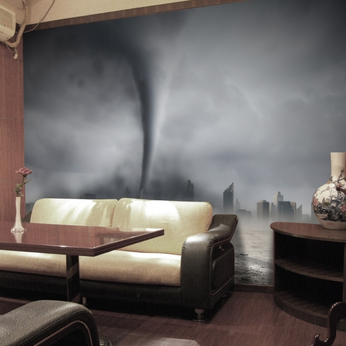 Amazing Removable Wall Murals Modern Ideas Tornado 3D High Quality Removable Wall Mural Wallpaper Pic
