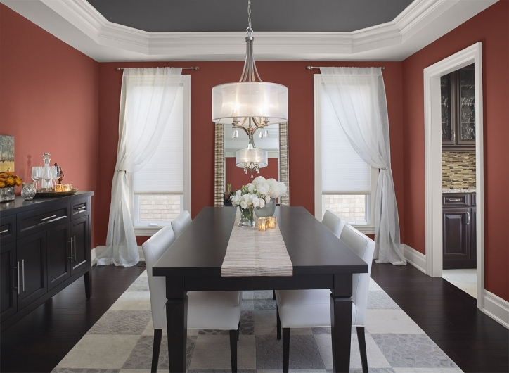 Dining room paint colors beautiful color schemes pictures for Pictures of beautiful dining rooms