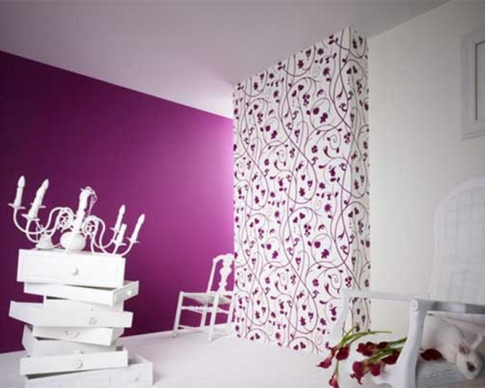 Excellent Purple Wall Decor With Ideas Purple Home Wallpaper For Living Room Pic