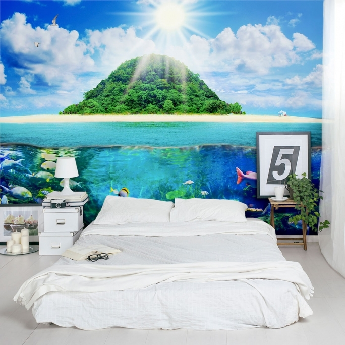 Inspirational Removable Wall Murals Island Sea Life Removable Bedroom Mural Image