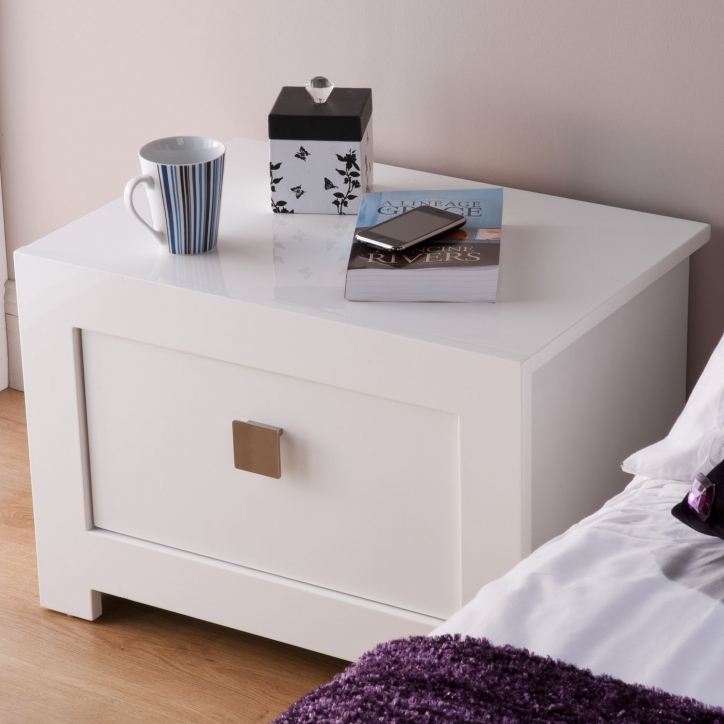 Narrow Bedside Table Small Ideas Modern White Elegant Style Pics