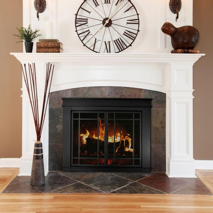 Pleasant Hearth Fireplace Doors Fillmore Small Glass Fireplace Doors Fl 5800
