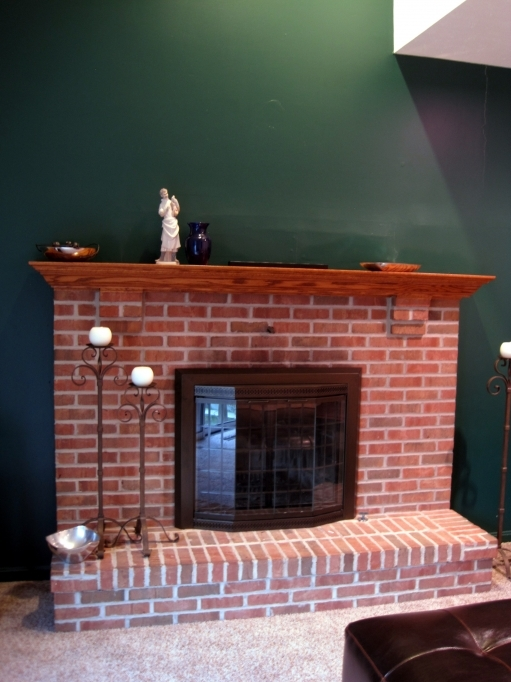 Pleasant Hearth Fireplace Doors For Rustic Family Room Design Surrounded By Brick Mantel