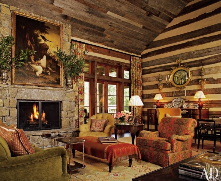 Rustic Living Room Paint Colors Brown Wood Wall With Striped Yellow Wall Panel Pictures