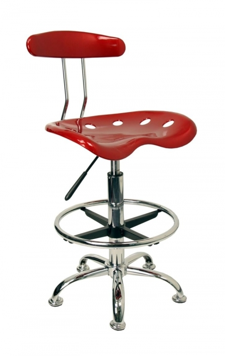 Tractor Seat Bar Stools Metalic And Vibrant Drafting Pic
