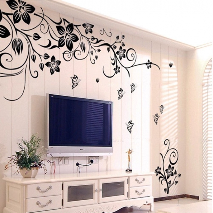 Wonderful Removable Wall Murals Hee Grand Mural Decal Removable Vinyl Wall Sticker Art Flowers And Vine Photos