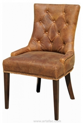 Brown Leather Dining Chair Antique Accent Rustic Dining Chairs Photos