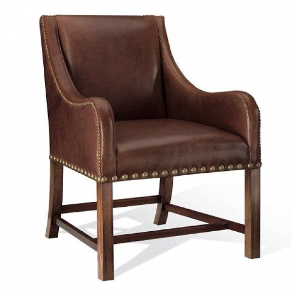 Brown Leather Dining Chair Cape Lodge Pic
