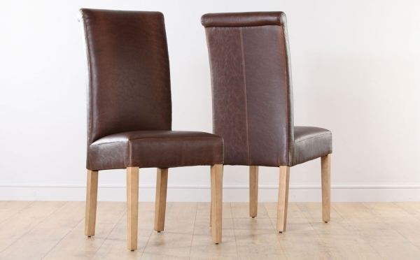 Brown Leather Dining Chair Choose Armless Pictures