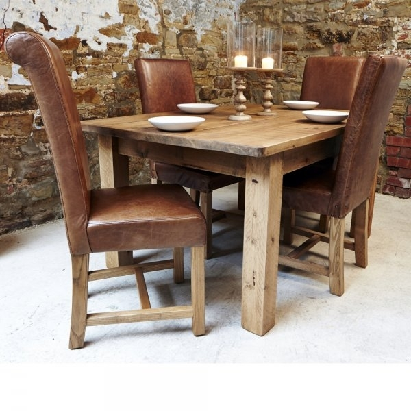 Brown Leather Dining Chair Rustic Dining Room Chairs Simple Design Pics