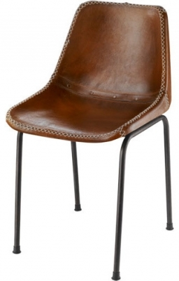 Brown Leather Dining Chairs Modern Schoolhouse Chair Ideas Photo