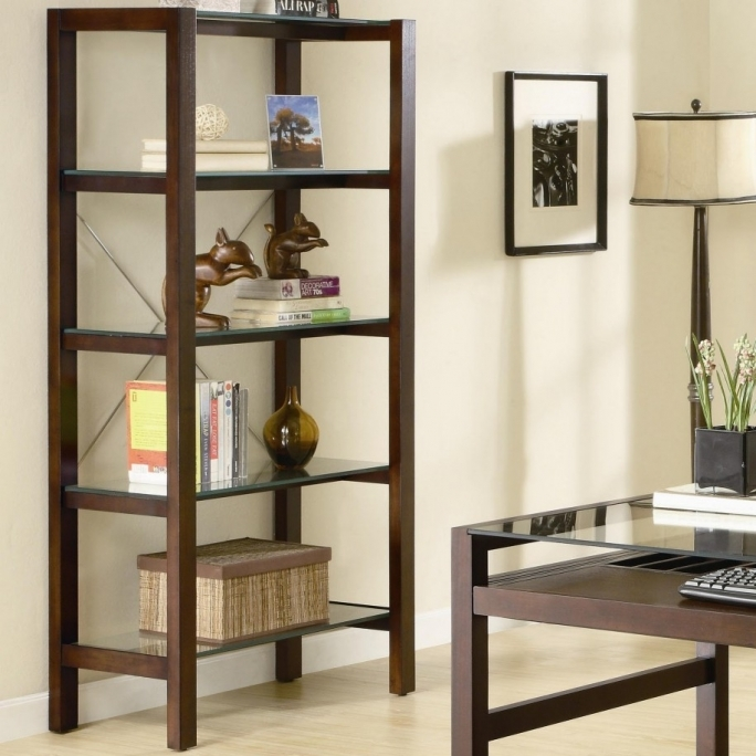 Glass Open Shelving Units Living Room Decoration Ideas 7