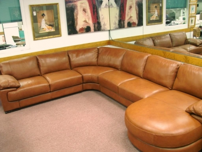 Natuzzi Leather Sectional Sofa B684 Pics
