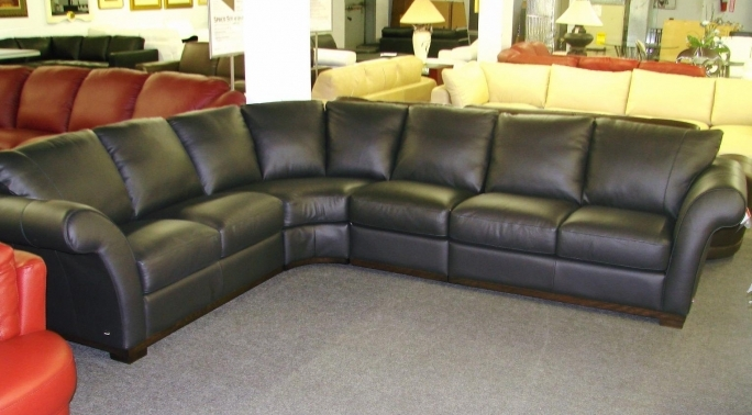 Natuzzi Leather Sofa Black A173 Pictures