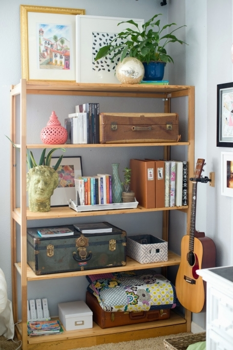 Open Shelving Units Living Room Shelf And Decorating Around TV 6