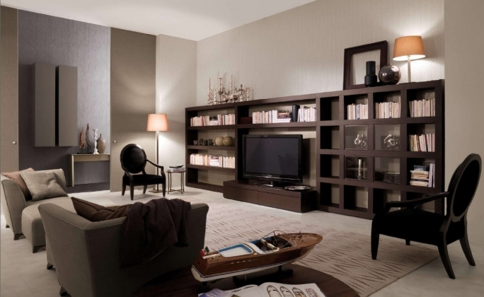 Open Shelving Units Living Room Wall Units With Wooden Open Shelves Storage Design 4