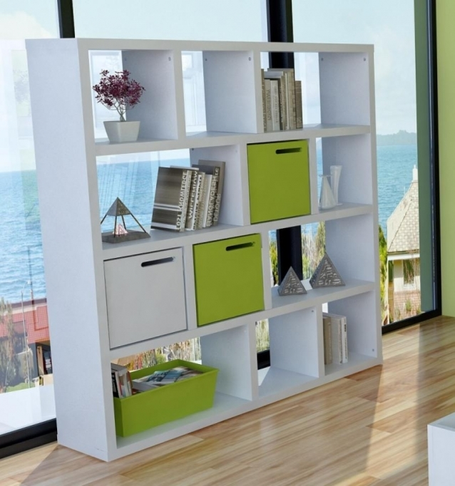 Open Shelving Units White Free Standing Open Shalves Living Room 7