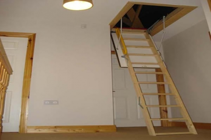 Pull down attic stairs design ideas home interior design for Pull down attic stairs installation