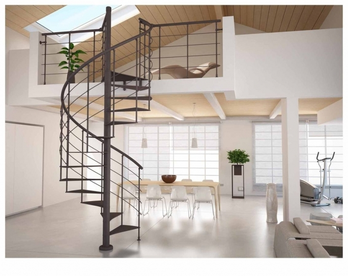 Spiral Staircase Dimensions Wonderful Interior Design With Floating Steps And Black Iron Handrail Images