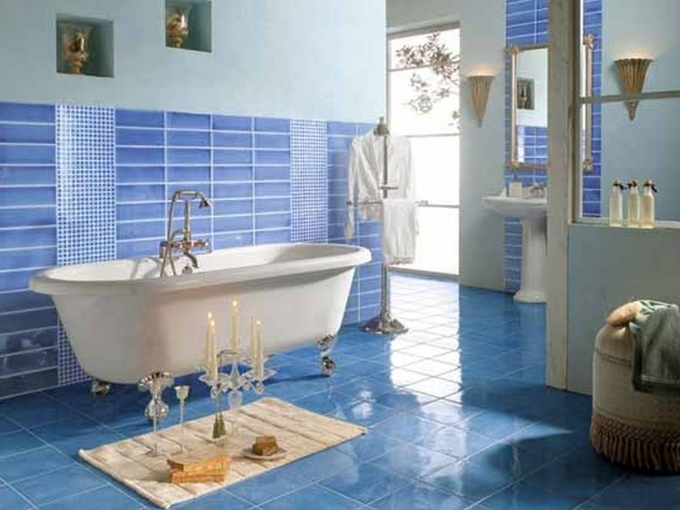 Beach Themed Decor For Bathroom Navy Blue And Yellow Bathroom Ideas Image